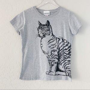 Cat graphic tee shirt